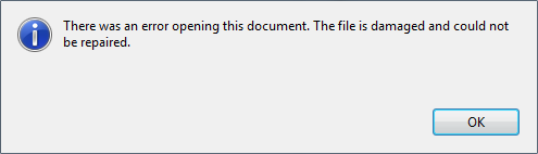 Fix File is Damaged and Could Not Be Repaired