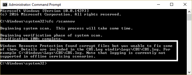 Windows Resource Protection found corrupt files but was unable to fix some of them [SOLVED]