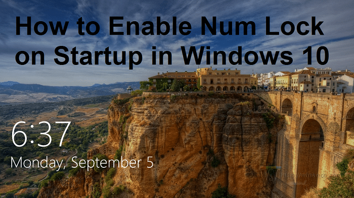 How to Enable Num Lock on Startup in Windows 10